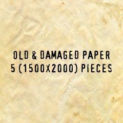 5種類のオールドダメージペーパーテクスチャ素材
