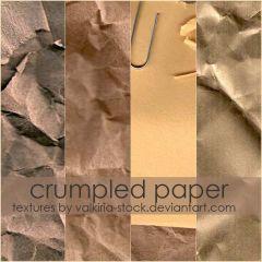 紙をくしゃくしゃに丸めた後のようなテクスチャ素材