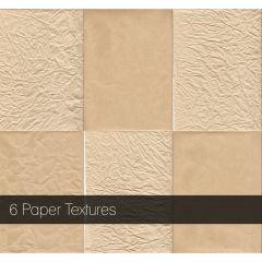 普通紙、しわ加工の紙テクスチャ素材6セット