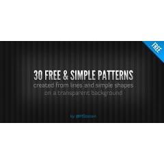 シンプルなラインが際立つ30種類のシームレスパターン素材