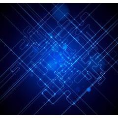 ブルーライトが美しく光るベクター素材