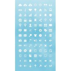 webデザインで多用されるピクトグラムアイコン素材