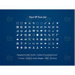 ファイル形式が豊富なアイコン素材77種類セット