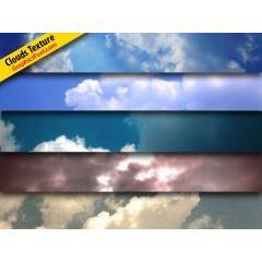 5色の変化を楽しめる雲テクスチャ素材